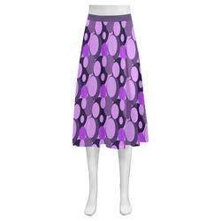 Purple Bubble Pop Mnemosyne Women's Crepe Skirt (Model D16)