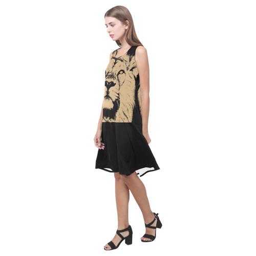 LION LADY LIKE Sleeveless Splicing Shift Dress(Model D17)