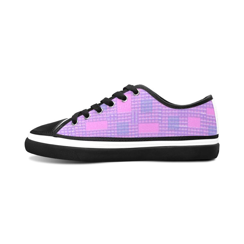 BICOLOR Women's Canvas Zipper Shoes (Model 001)