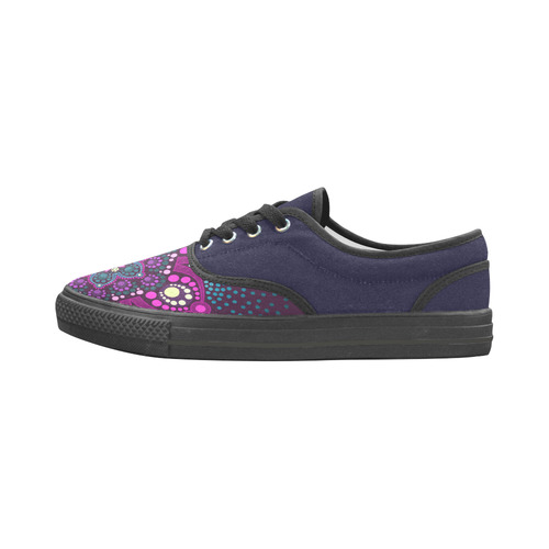 Dot painting meets mandalas 16 - 3 Aries Men's Canvas Shoes (Model 029)