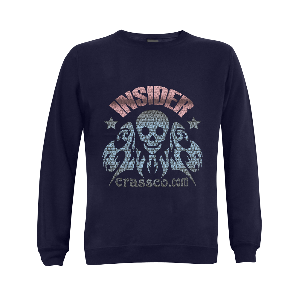INSIDER SKULL WITH EFFEKT Gildan Crewneck Sweatshirt(NEW) (Model H01)