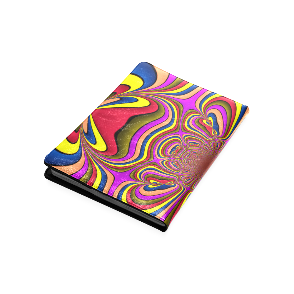 Yellow Lilac Abstract Flower Custom NoteBook B5
