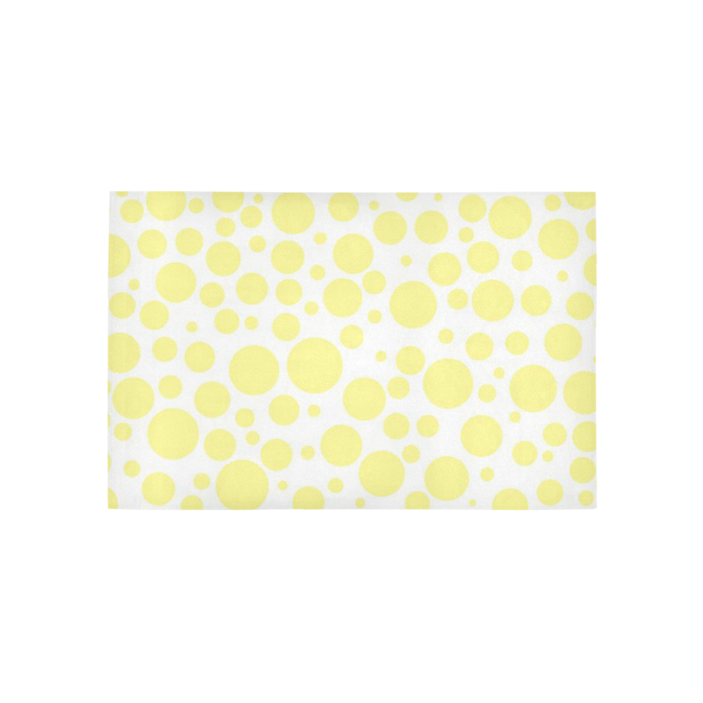 yellow polka dots Area Rug 5'x3'3''