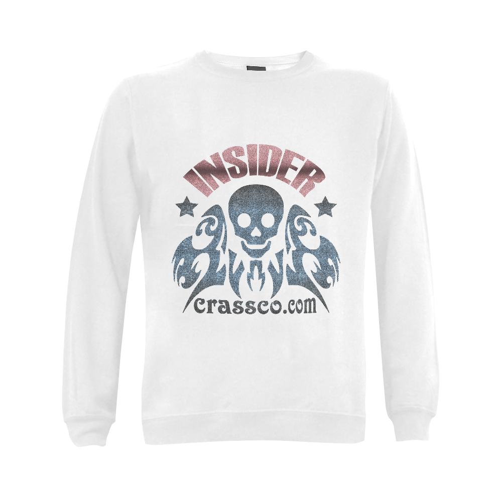 INSIDER SKULL WITH EFFEKT Gildan Crewneck Sweatshirt(NEW) (Model H01)