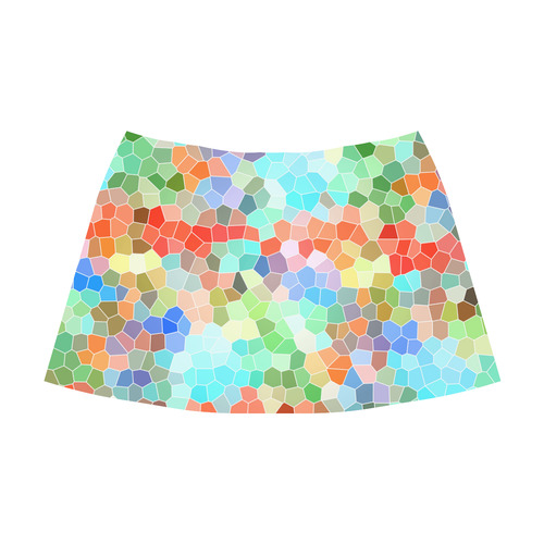 Colorful Mosaic Mnemosyne Women's Crepe Skirt (Model D16)
