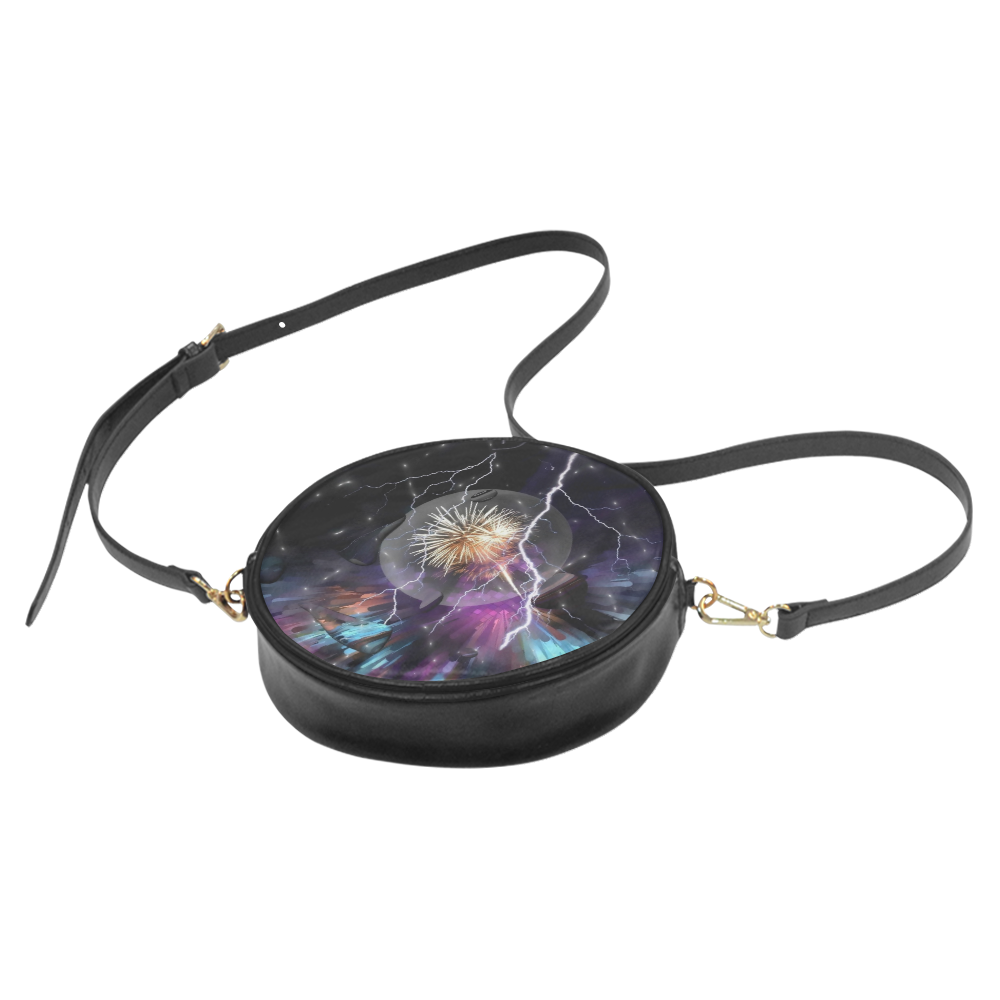 Space Night by Artdream Round Sling Bag (Model 1647)