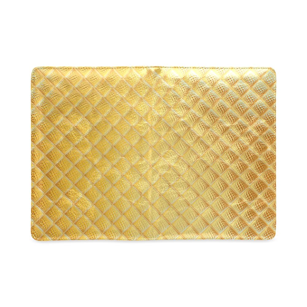 Gleaming Golden Plate Custom NoteBook A5