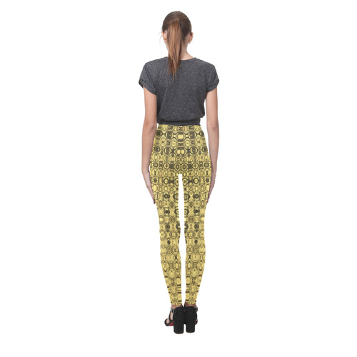 GOLD LUXURY Cassandra Women's Leggings (Model L01)