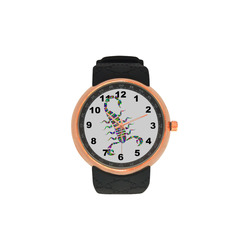 Abstract Triangle Scorpion Men's Rose Gold Resin Strap Watch(Model 308)