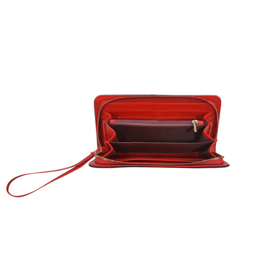 Teal and Red Vintage Reindeer Women's Clutch Wallet (Model 1637)