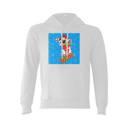 Christmas Pug in A Stocking Gildan Hoodie Sweatshirt (Model H03)