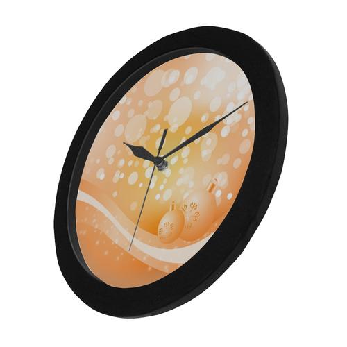 Christmas design with christmas balls Circular Plastic Wall clock