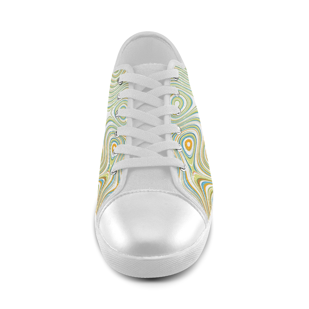 Multicolor Fluent Circle Women's Canvas Shoes (Model 016)