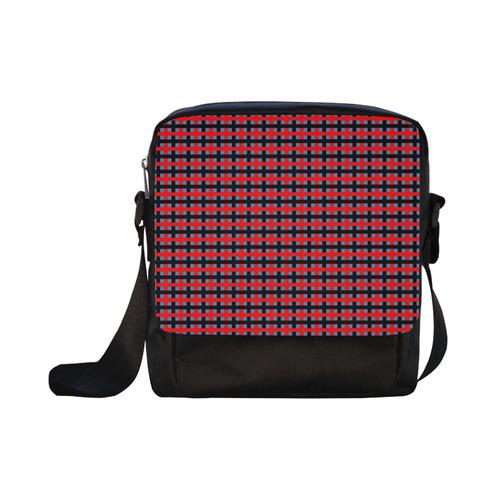 RED CHECKER Crossbody Nylon Bags (Model 1633)