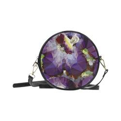 Purple Abstract Geometric Dream Round Sling Bag (Model 1647)