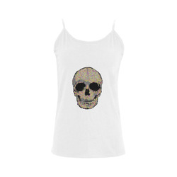 The Living Skull Women's Spaghetti Top (USA Size) (Model T34)