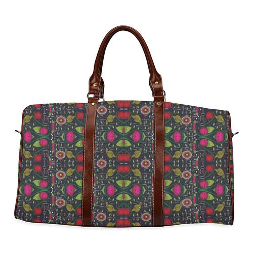 Roses and green leaf Waterproof Travel Bag/Large (Model 1639)