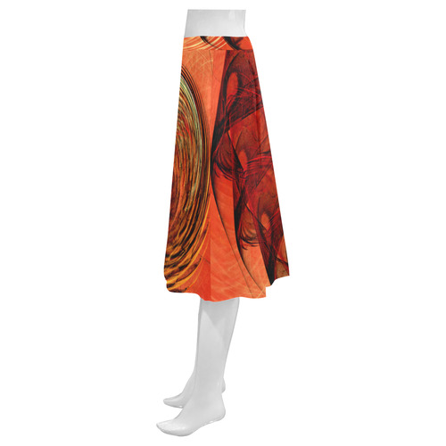 Nautilus Shell Abstract Fractal Mnemosyne Women's Crepe Skirt (Model D16)