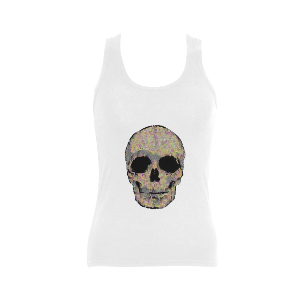 The Living Skull Women's Shoulder-Free Tank Top (Model T35)