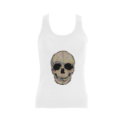 The Living Skull Women's Shoulder-Free Tank Top (Model T35)
