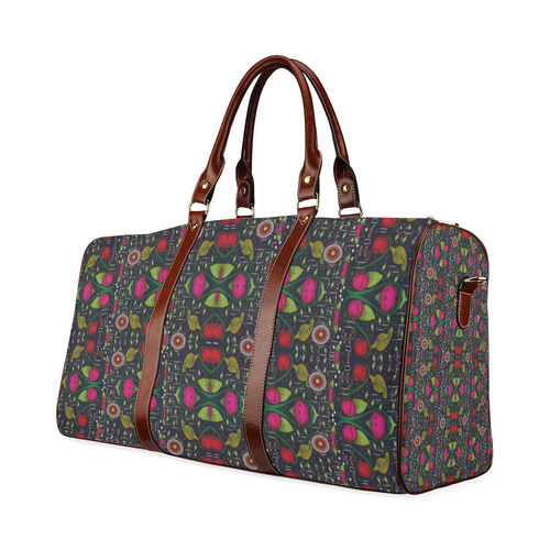 Roses and green leaf Waterproof Travel Bag/Large (Model 1639)