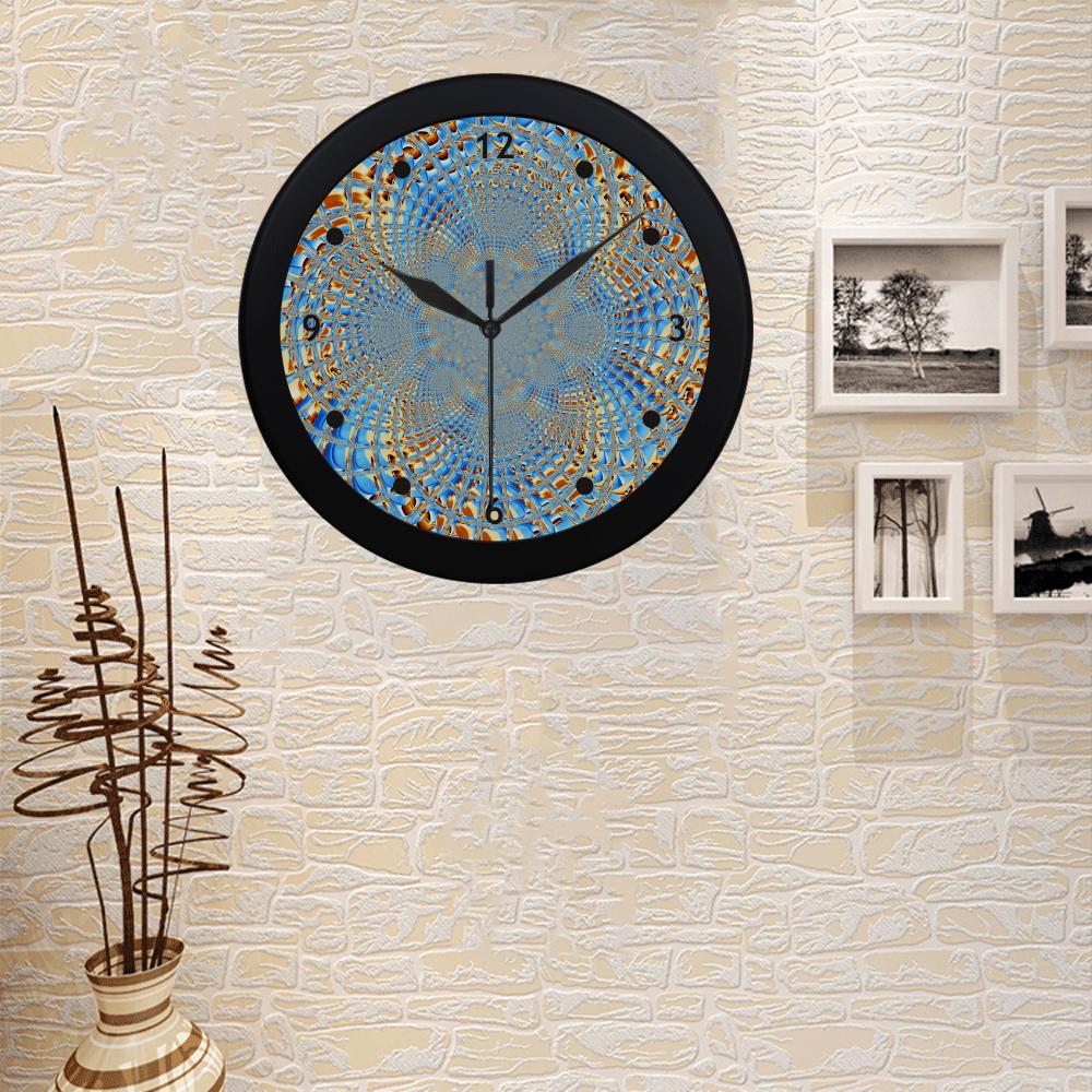 Window Iced Flower Circular Plastic Wall clock