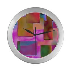 carres 8 Silver Color Wall Clock