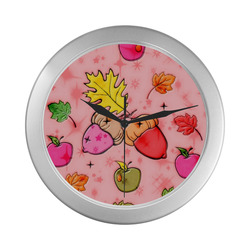 Fall by Popart Lover Silver Color Wall Clock