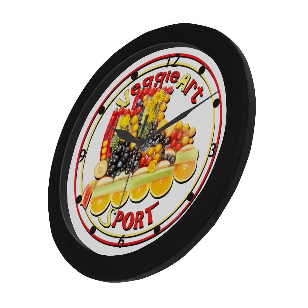 VeggieArt Sport Circular Plastic Wall clock