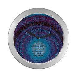 bircat habayit mandala 13 Silver Color Wall Clock
