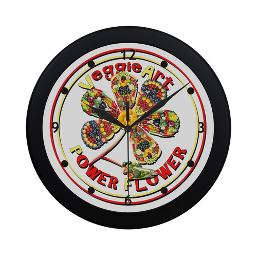 VeggieArt Power Flower Circular Plastic Wall clock