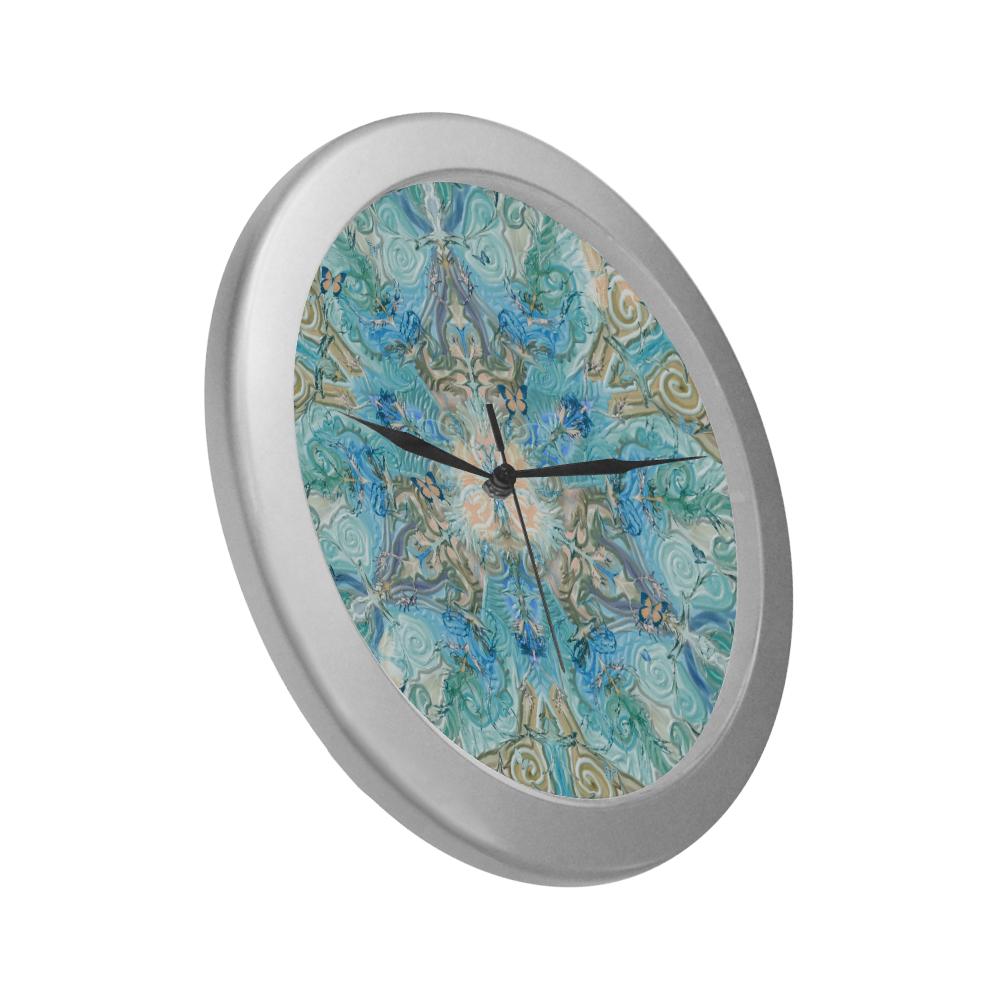 rosace 11 Silver Color Wall Clock