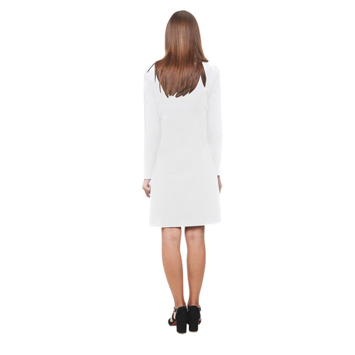 Cute witch on the broom Demeter Long Sleeve Nightdress (Model D03)