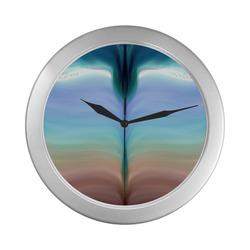 934 Silver Color Wall Clock