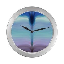 936 Silver Color Wall Clock