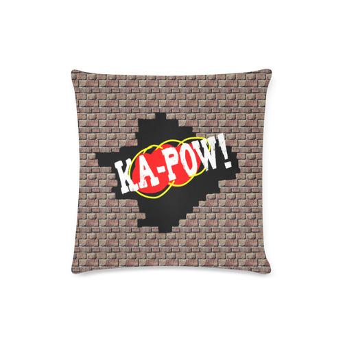 "KA-POW! Custom Zippered Pillow Case 16""x16""(Twin Sides)"
