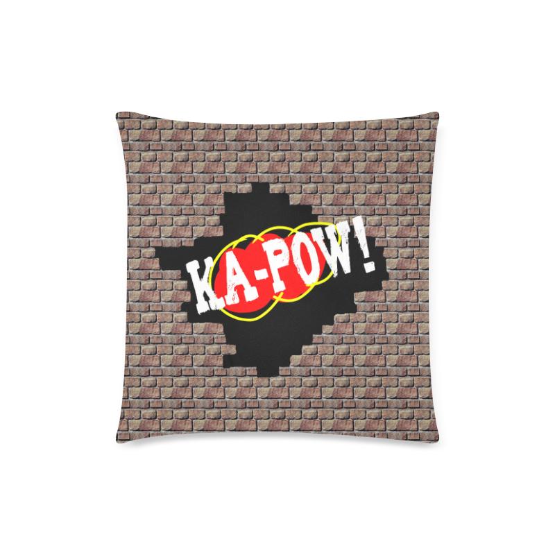 "KA-POW! Custom Zippered Pillow Case 18""x18""(Twin Sides)"