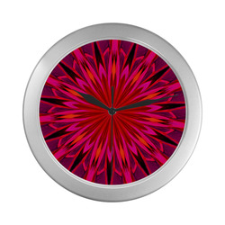 sTRAWBERRY fIELDS Silver Color Wall Clock
