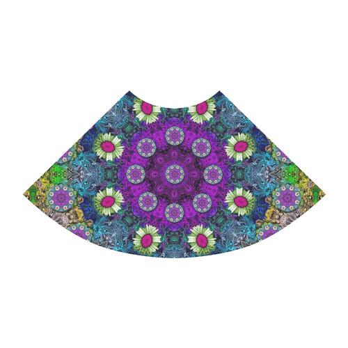 Colors and flowers in a mandala Atalanta Sundress (Model D04)