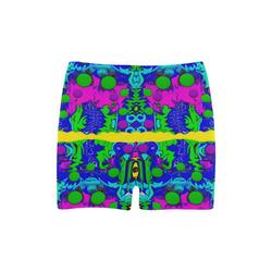 Shimmering Landscape Pop Art Briseis Skinny Shorts (Model L04)
