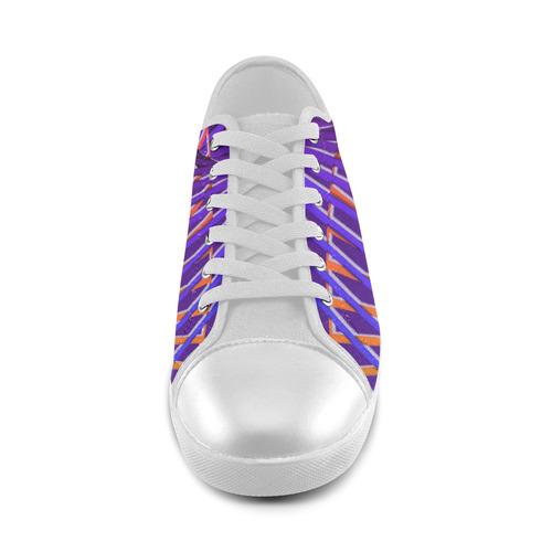 Colorful Rainbow Helix Women's Canvas Shoes (Model 016)