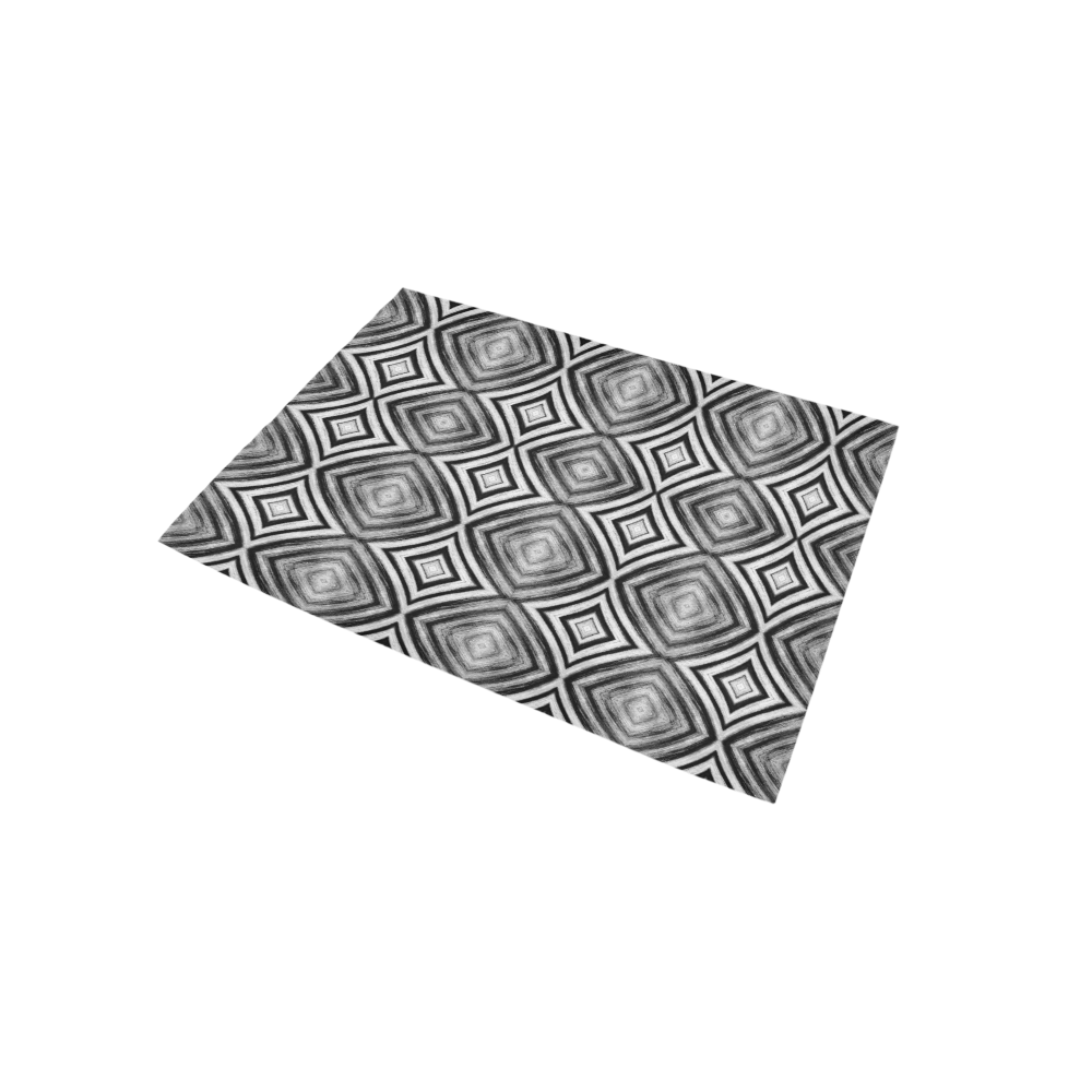 black and white diamond pattern Area Rug 5'x3'3''