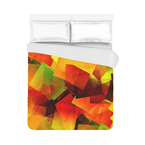 """Indian Summer Cubes Duvet Cover 86""""x70"""" ( All-over-print)"""