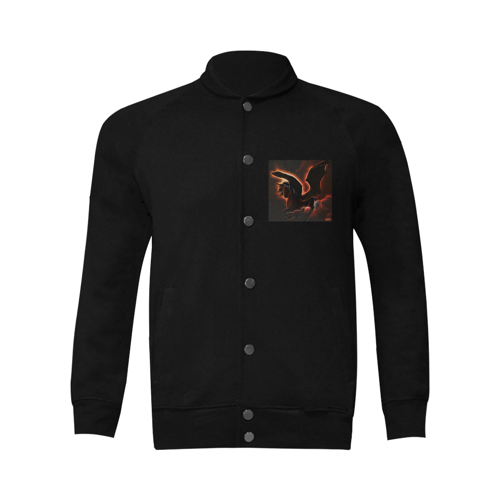 Awesmoe dark unicorn Men's Baseball jacket (Model H12)