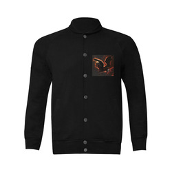 Awesmoe dark unicorn Men's Baseball jacket (Model H12)