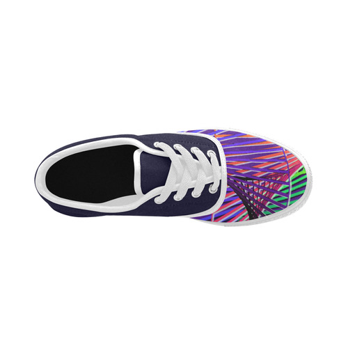 Colorful Rainbow Helix Aries Women's Canvas Shoes (Model 029)