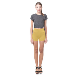 Spicy Mustard Briseis Skinny Shorts (Model L04)
