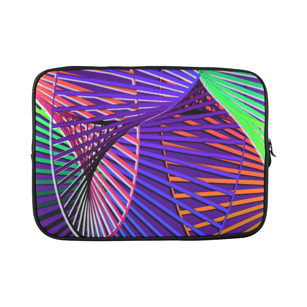 "Colorful Rainbow Helix Custom Sleeve for Laptop 15.6"""