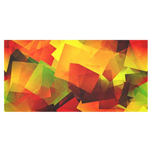 """Indian Summer Cubes Cotton Linen Tablecloth 60""""x120"""""""