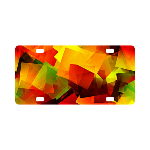 Indian Summer Cubes Classic License Plate